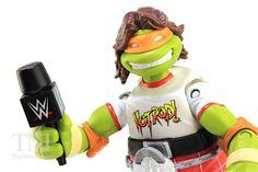 TMNT WWE Michelangelo as Rowdy Roddy Piper Superstars Turtles Figure Video Review & Image Gallery