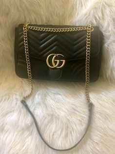 f28b2dbaf108db Details about Authentic GUCCI GG Marmont small Matelassé shoulder Leather  bag White 447632