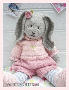 bunny knitting patterns free - Google Search
