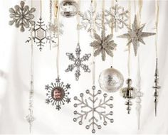 White Christmas. Love the silver & white tones here.