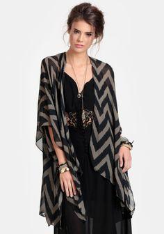 Set My Sights Chevron Kimono #threadsence #fashion