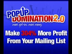 PopUp Domination  | Make 304% more profit from your mailing list