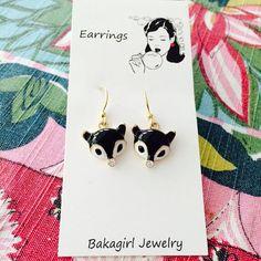 Fox Earrings by bakagirl on Etsy