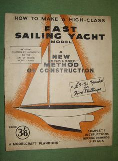 1943 vintage Pond Yacht building book with full design plans