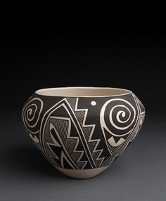 Acoma Jar with Negative Designs by Sarah Garcia, c. 1980