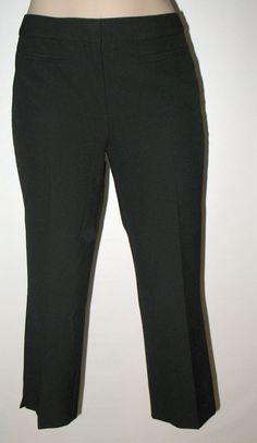 TALBOTS  Petites Heritage Fit Cropped Pant - BLACK 2P - Viscose Blend w stretch #TalbotsPetites #CaprisCropped