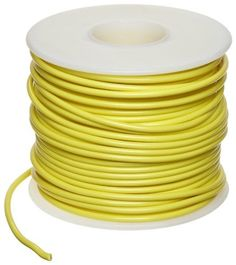 """GPT Automotive Copper Wire, Yellow, 22 AWG, 0.0253"""" Diameter, 100' Length (Pack of 1) by Small Parts. $13.44. GPT general purpose automotive yellow color wire temp range -40 to 105 C"""