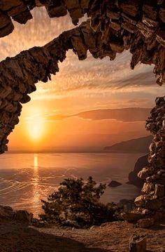 Monolithos west coast sunset    nature     sunrise      sunset   #nature  https://biopop.com/