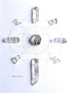 INFUSE POSITIVE ENERGY framed sacred crystal grid  by CrystalGrids, $85.00
