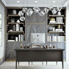 Your home office should be a place that inspires both your creativity and productivity. - - Home Office Ideas Setup Furniture Desks Chairs Tables decorations Decor Home Office Space, Home Office Decor, Office Furniture, Home Decor, Office Ideas, Home Office Lighting, Office Chic, Unique Furniture, Table Furniture