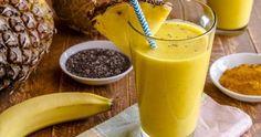 Préparer un smoothie de perdre du poids à base d'ananas et de graines de chia qui nous aident à nettoyer le corps pendant qu'ils nous fournissent la satiété et favorisent le transit intestinal