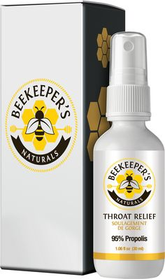 All natural propolis (95% extract!) throat spray. Get yours today from beekeepersnaturals.com