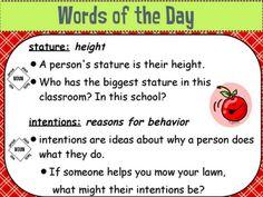 The High-Tech Teacher: Slick Tricks for Grade Six: Marzano Vocabulary (Word of the Day)