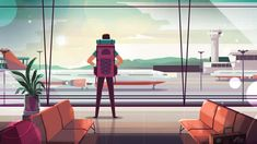 A short version of the corporate promotional video. Sometimes we do work that never sees the light of day for one reason or another. The full video has never been published. Line Illustration, Landscape Illustration, Graphic Design Illustration, Digital Illustration, Illustrations, Landscape Drawing Tutorial, Animation Storyboard, Gifs, Animation Tutorial