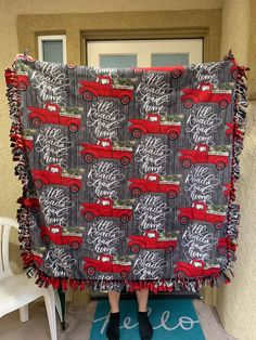 Excellent Pictures hand sewing blankets Concepts Excited to share this item from my shop: Buffalo plaid fleece, no sew blanket, plush fleece Fleece Tie Blankets, No Sew Fleece Blanket, No Sew Blankets, Fleece Fabric, Fleece Projects, Bear Slippers, Christmas Red Truck, No Sew Curtains, Cute Baby Boy