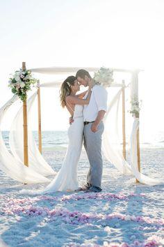 Romantic Sunset Beach Wedding