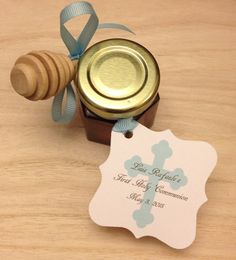 First Holy Communion Favors with Personalized Tags and Dipper