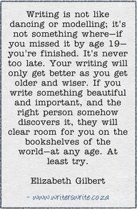 Quotable - Elizabeth Gilbert - Writers Write Creative Blog