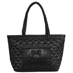 Dámská černá luxusní kabelka Naraya s mašlí NNBS403101