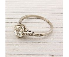 Superb Simple Antique Engagement Rings #13 - Beautiful Simple Vintage Engagement Ring