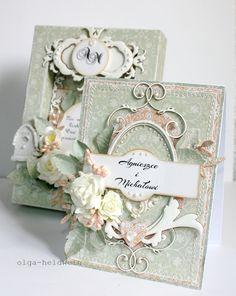 Card by Olga Heldwein, June 2012 - Romantycznie