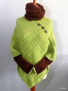 … Crochet Poncho, Poncho Sweater, Turtle Neck, Sweaters, Fashion, Ponchos, Moda, Fashion Styles, Pullover