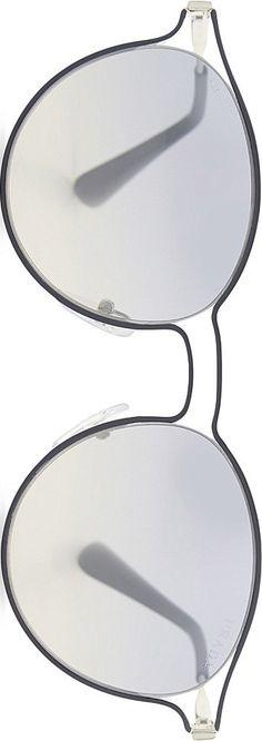 TRENDING: Round monochromatic grey lenses + frames by Prada. Zippertravel. #DrStyle