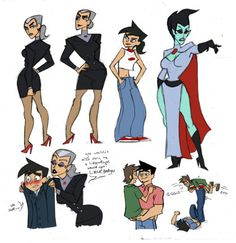 Sketchdump by ~Silk-Ward Danny Phantom Vlad, Phantom 3, Httyd, Cartoon Movies, Cartoon Art, Disney Gender Bender, Otaku, Body Swap, Ghost Boy