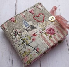 Handmade fabric book.