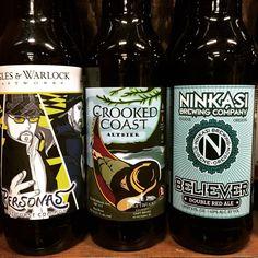Fuggles & Warlock Personas, Crooked Coast Altbier and Ninkasi Believer #craftbeer #beerme #beerlove