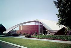 The Robert Frost Memorial Auditorium. Located in Culver City, California it was designed by Flewelling and Moody and completed in 1964. Photo: Getty / Shulman