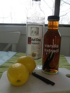 Heart, Hands, Home: homemade extract made from fruits, vanilla, mint, etc. place in jar and add 1C vodka.