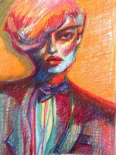 Lajla Toullec,  illustration portrait