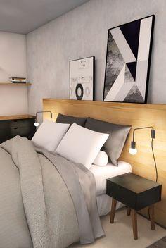 Quarto de casal simples e barato. Home Bedroom, Master Bedroom, Bedroom Decor, Interior Design Living Room Warm, Fashion Room, Dream Rooms, New Room, New Homes, Decoration