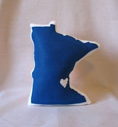 Minnesota State Pillow - or any state you want, available in several colors