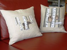 """Kundenarbeit: Kissen mit Stickmotiven aus dem Buch """"Winterwunderland"""" #acufactum #winter #selbstgemacht #selfmade #homemade #sticken #naehen #sewing #crossstich #kreuzstich #elch #moose #eule #owl"""