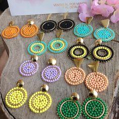 Bridal Gift Wrapping Ideas, Beaded Earrings, Crochet Earrings, Hand Embroidery, Embroidery Designs, Flower Wall Backdrop, Bridal Gifts, Designer Earrings, Bead Weaving