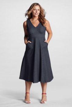 Women\'S Plus Size Seersucker Dress - Prom Dresses Cheap