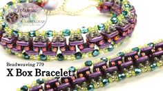"This video tutorial from The Potomac Bead Company teaches you how to make Potomac Bead Company beadwork artist Allie Buchman's design of the ""X Box Bracelet...."