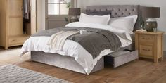 Buy Paris Double Bed Simple Contemporary Silver Grey from the Next UK online shop