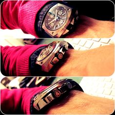 Wrist shot of BR02 CF dial..... By Bell & Ross