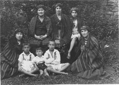 Miechov Kielce, Poland, Tzimberknipf family dressed in national rural style. All of them perished apart from the two children sitting on the left.