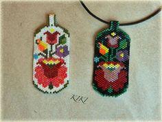 KIKI beads: Hungarian Kalocsa my pendant + sample