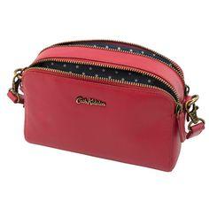 From Cathkidston Mini Leather Double Zip Bag