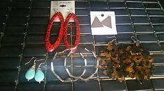 5 Pc Pack Lot Set of Fashion Dangle Large Earrings For Women