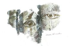 Aspen Eyes 9, 2008, by Carol Hummel (www.carolhummel.com) The eyes of the Aspen trees are beautiful and mysterious. This work on paper is one in a series created during my Colorado Art Ranch residency in Steamboat Springs.