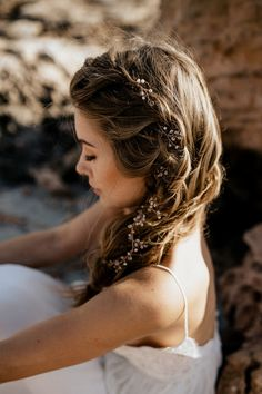 Wedding Hair Down Extra Long Hair Vine Bridal Hair Vine Wedding Hairpiece Pearl Gold Hair Vine Bridal Hair Jewelry Pea - Boho Wedding Hair, Vintage Wedding Hair, Wedding Hair Down, Bridal Hair Vine, Wedding Hair Pieces, Bridal Crown, Wedding Blog, Wedding Ideas, Boho Hairstyles