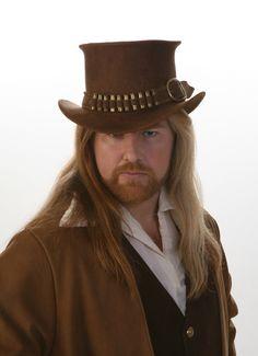 Top Hat Leather Steampunk Western Gunslinger.  via Etsy.