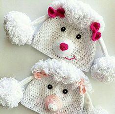 Telenor E-post :: Du pinner som en helt! Her er 14 nye Pins til Heklet-tavlen din Crochet Kids Scarf, Crochet Baby Hats, Crochet Beanie, Knit Or Crochet, Crochet Gifts, Crochet For Kids, Crochet Clothes, Knitted Hats, Loom Knitting Projects