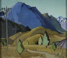 <p>Louise Henderson <strong>Plain and Hills </strong>1936. Oil on canvas. Collection of Christchurch Art Gallery Te Puna o Waiwhetu, purchased 2003</p>